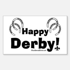 Happy Derby Rectangle Decal