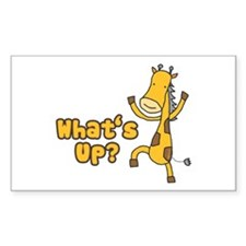What's Up Giraffe Rectangle Decal