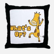What's Up Giraffe Throw Pillow