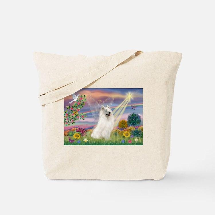 Cloud Angel & Samoyed Tote Bag