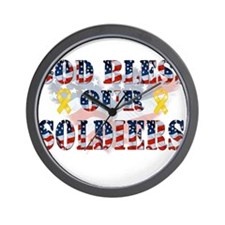 Cute Support the troops Wall Clock