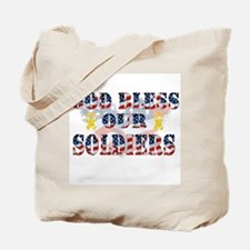 Cute Support the troops Tote Bag