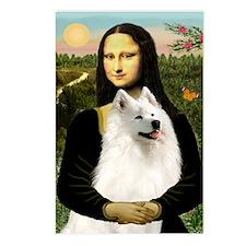 Mona Lisa (new) & Samoyed Postcards (Package of 8)