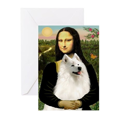 Mona Lisa (new) & Samoyed Greeting Cards (Pk of 10