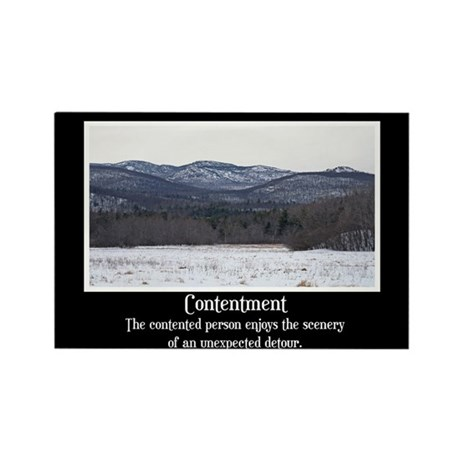 Contentment Motivational Rectangle Magnet (100 pac