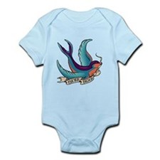 Bette Noir Swallow Infant Bodysuit
