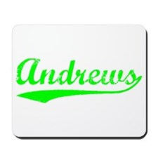 Vintage Andrews (Green) Mousepad