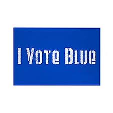 I Vote Blue 2 Rectangle Magnet (100 pack)