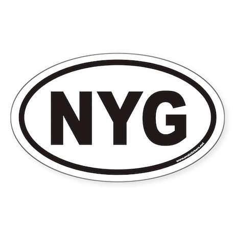 NYG Euro Oval Sticker