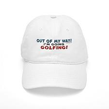 Golfing Penguin Baseball Cap