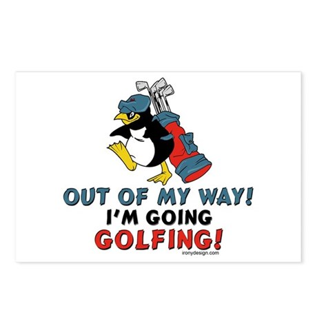 Golfing Penguin Postcards (Package of 8)