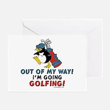 Golfing Penguin Greeting Cards (Pk of 10)