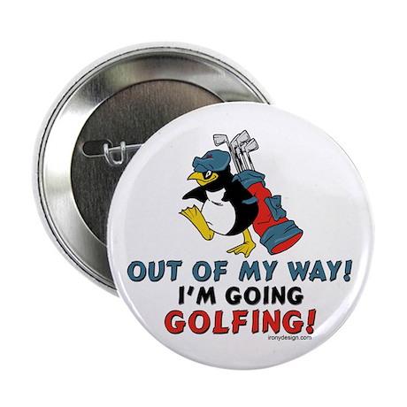 "Golfing Penguin 2.25"" Button (10 pack)"