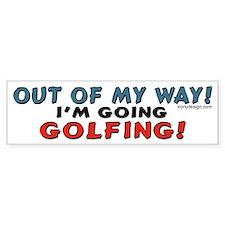 Golfing Penguin Bumper Bumper Bumper Sticker