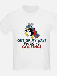 Golfing Penguin Kids T-Shirt