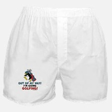Golfing Penguin Boxer Shorts