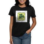 Irish Shamrock Quilting Block Women's Dark T-Shirt