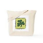 Irish Shamrock Quilting Block Tote Bag
