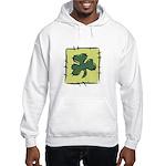 Irish Shamrock Quilting Block Hooded Sweatshirt