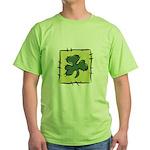 Irish Shamrock Quilting Block Green T-Shirt