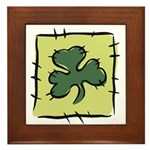Irish Shamrock Quilting Block Framed Tile