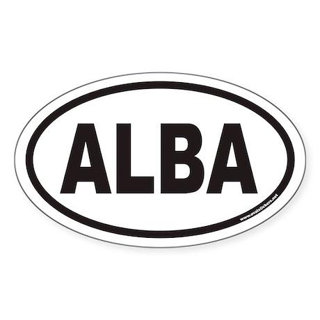 ALBA Ancient Scotland Euro Oval Sticker