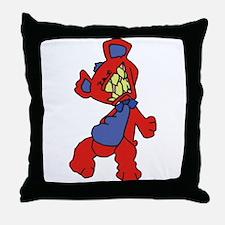 Wrath Teddy Bear Throw Pillow