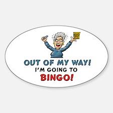BINGO!! Oval Decal