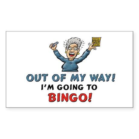 BINGO!! Rectangle Sticker