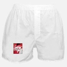 Cropped Paper Hearts - Love V Boxer Shorts