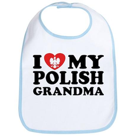 I Love My Polish Grandma Bib