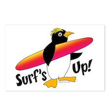 Surf's Up! Penguin Postcards (Package of 8)