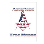 American Free Mason Postcards (Package of 8)