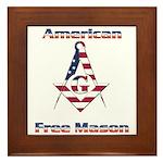 American Free Mason Framed Tile