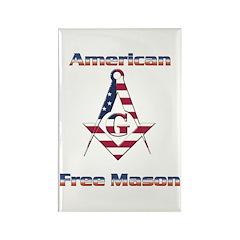American Free Mason Rectangle Magnet