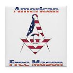 American Free Mason Tile Coaster