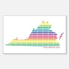 Lines of Color Rectangle Decal