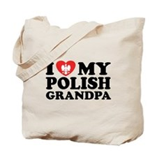 I Love My Polish Grandpa Tote Bag