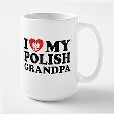I Love My Polish Grandpa Ceramic Mugs