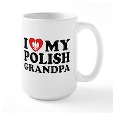 I Love My Polish Grandpa Mug
