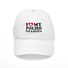 I Love My Polish Grandpa Baseball Cap