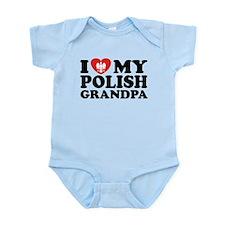 I Love My Polish Grandpa Infant Bodysuit