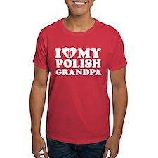 I Love My Polish Grandpa T-Shirt