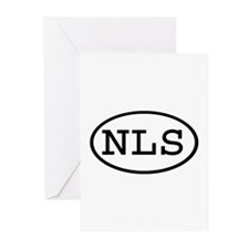 NLS Oval Greeting Cards (Pk of 10)