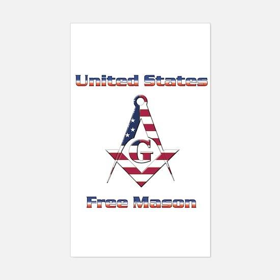 U.S. Mason Rectangle Decal