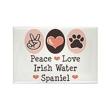 Peace Love Irish Water Spaniel Magnet 100 pack