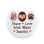 Peace Love Irish Water Spaniel 3.5