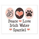 Peace Love Irish Water Spaniel Small Poster