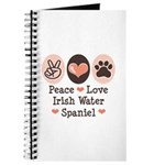 Peace Love Irish Water Spaniel Journal