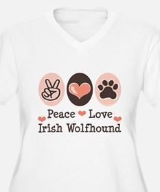 Peace Love Irish Wolfhound T-Shirt
